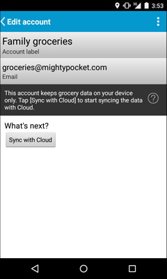Sync local account